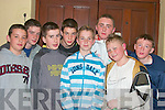 Enjoying the KDYS Disco in the Community Centre, Moyvane on Friday night were, Jack Dillon, Luke Lynch, Kevin Murphy, Ollie Porter, Eddie Joe Walsh, Jason Barry, tim O'Sullivan and Diarmuid Keane....   Copyright Kerry's Eye 2008