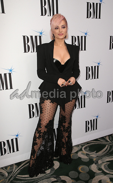 14 May 2019 - Beverly Hills, California - Bebe Rexha. 67th Annual BMI Pop Awards held at The Beverly Wilshire Four Seasons Hotel. Photo Credit: Faye Sadou/AdMedia