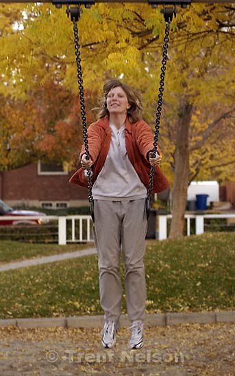 Laura Nelson on swing. 11/04/2001, 5:05:17 PM<br />