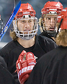 Tom Gilbert- The University of Wisconsin Badgers practiced on Friday, April 7, 2006, at the Bradley Center in Milwaukee, Wisconsin.  The following evening the Badgers defeated Boston College 2-1 to win the Title.