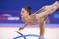 September 13, 2018 - Sofia, Bulgaria - MELINA BALDASSARRI of Italy performs ribbon at 2018 World Championships.