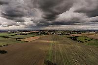 Dronebilleder af uvejrsskyer taget ved Risby. Foto: Jens Panduro