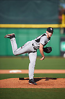 Louisville Cardinals relief pitcher Shane Hummel (39) delivers a pitch during a game against the Ball State Cardinals on February 19, 2017 at Spectrum Field in Clearwater, Florida.  Louisville defeated Ball State 10-4.  (Mike Janes/Four Seam Images)