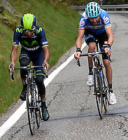 fITALIA - 27-05-2014. Nairo Quintana, ciclista colombiano del equipo Movistar en la etapa 16 Ponte di Legno y Val Martello sobre 139 kilómetros, y se ha apuntado la victoria en la cima de Val Martello en la versión 97 del Giro de Italia / Nairo Quintana, Colombian cyclist Movistar Team in the stage 16 Ponte di Legno and Val Martello about 139 kilometers, and has registered the win on top of Val Martello in version 97 of the Giro d'Italia.  VizzorImage/ Fabio Ferrari / LaPresse………VizzorImage PROVIDES THE ACCESS TO THIS PHOTOGRAPH ONLY AS A PRESS AND EDITORIAL SERVICE AND NOT IS THE OWNER OF COPYRIGHT; ANOTHER USE HAVE ADDITIONAL PERMITS AND IS  REPONSABILITY OF THE END USER