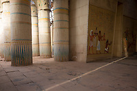 Morocco - Ouarzazate - The interior of an Egyptian temple at Atlas Corporation Studio. The temple was used in several movies and documentaries, including Asterix & Obelix Mission Cleopatra.