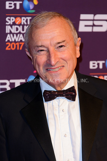 www.acepixs.com<br /> <br /> April 27 2017, London<br /> <br /> Jim Rosenthal arriving at the BT Sport Industry Awards at Battersea Evolution on the 27th April 2017 at Battersea Evolution, London<br /> <br /> By Line: Famous/ACE Pictures<br /> <br /> <br /> ACE Pictures Inc<br /> Tel: 6467670430<br /> Email: info@acepixs.com<br /> www.acepixs.com