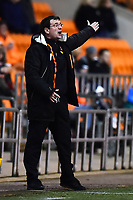 Blackpool manager Gary Bowyer  reacts<br /> <br /> Photographer Richard Martin-Roberts/CameraSport<br /> <br /> The EFL Sky Bet League One - Blackpool v Charlton Athletic - Tuesday 13th March 2018 - Bloomfield Road - Blackpool<br /> <br /> World Copyright &not;&copy; 2018 CameraSport. All rights reserved. 43 Linden Ave. Countesthorpe. Leicester. England. LE8 5PG - Tel: +44 (0) 116 277 4147 - admin@camerasport.com - www.camerasport.com