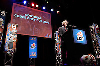 Tom E.S. Wright, Commisionner,annonce that the CFL championship games will be held in Montreal in 2008.Photo by Pierre Roussel / Images Distribution