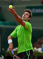 France, Paris, 01.06.2014. Tennis, French Open,Roland Garros,  Marcel Granollers (ESP)<br /> Photo:Tennisimages/Henk Koster