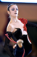 October 20, 2001; Madrid, Spain:  ANNA BESSONOVA of Ukraine leaps with rope at 2001 World Championships at Madrid.