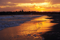 Newport, RI 2007 - A Dramatic sunset spreads over second or Sachuest beach, Middletown, RI