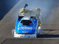 Feb 26, 2016; Chandler, AZ, USA; NHRA funny car driver John Force during qualifying for the Carquest Nationals at Wild Horse Pass Motorsports Park. Mandatory Credit: Mark J. Rebilas-
