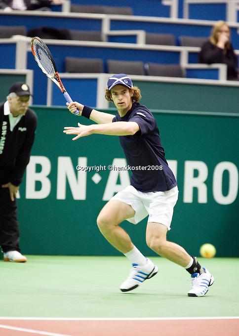20-2-08, Netherlands, Rotterdam ABNAMROWTT 2008,  Andy Murray