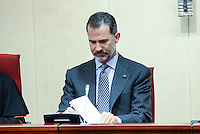 King Felipe VI and Queen Letizia visit the Conferencia Episcopal Española.