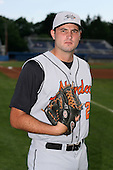 July 14th 2008:  Pitcher Nate Moreau of the Aberdeen Ironbirds, Class-A affiliate of the Baltimore Orioles, during a game at Dwyer Stadium in Batavia, NY.  Photo by:  Mike Janes/Four Seam Images