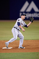 Lakeland Flying Tigers shortstop Joey Pankake (9) during a game against the Tampa Yankees on April 7, 2017 at George M. Steinbrenner Field in Tampa, Florida.  Lakeland defeated Tampa 5-0.  (Mike Janes/Four Seam Images)