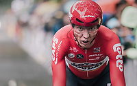 Marcel Sieberg (DEU/Lotto-Soudal) finishing<br /> <br /> 104th Tour de France 2017<br /> Stage 1 (ITT) - D&uuml;sseldorf &rsaquo; D&uuml;sseldorf (14km)
