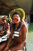 United Nations Conference on Environment and Development, Rio de Janeiro, Brazil, 3rd to 14th June 1992. Kayapo Chief Raoni at the Global Forum.