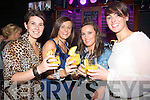 TOASTING: Toasting to the first night of Benners Hotel, Night Club, Tralee on Monday night, l-r: Tina Fitzmaurice, Michelle O'Sullivan, Catriona Galvin and Ciara Murphy..