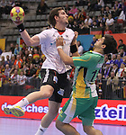 12.01.2013 Granollers, Spain. IHF men's world championship, prelimanary round. Picture show Michael Haass in action during game between Germany vs Brazil at Palau d'esports de Granollers