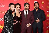 HOLLYWOOD, CA - JANUARY 08: (L-R) Actors Darren Criss, Penelope Cruz, Edgar Ramirez and Ricky Martin attend the Premiere Of FX's 'The Assassination Of Gianni Versace: American Crime Story' at ArcLight Hollywood on January 8, 2018 in Hollywood, California.<br /> CAP/ROT/TM<br /> &copy;TM/ROT/Capital Pictures