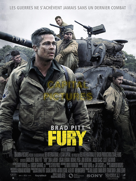 FRENCH POSTER ART<br /> in Fury (2014)  <br /> *Filmstill - Editorial Use Only*<br /> CAP/NFS<br /> Image supplied by Capital Pictures