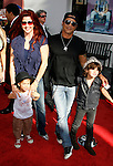 "Musician Slash and family arrive at the American Premiere of ""The Mummy: Tomb Of The Dragon Emperor at the Gibson Amphitheatre on July 27, 2008 in Universal City, California."