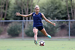 CARY, NC - AUGUST 24: Jaelene Hinkle. The North Carolina Courage held a training session on August 24, 2017, at WakeMed Soccer Park Field 7 in Cary, NC.