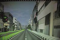 Iran- tecnologia- Politecnico di Teheran, Laboratorio di realtà virtuale, simulazione di guida nel traffico cittadino, virtual reality simulation of the local traffic