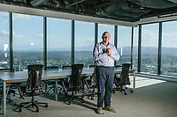Mcc0091512<br /> Former Microsoft CEO and Los Angeles Clippers Owner Steve Ballmer, 63, is the billionaire founder of USAFacts, a nonpartisan website aiming to make public data and information more accessible.  Among the richest businessmen in the world, Ballmer was photographed at his offices in Bellevue, Washington, a suburb near Seattle. Photo by Daniel Berman for The Daily Telegraph of London.