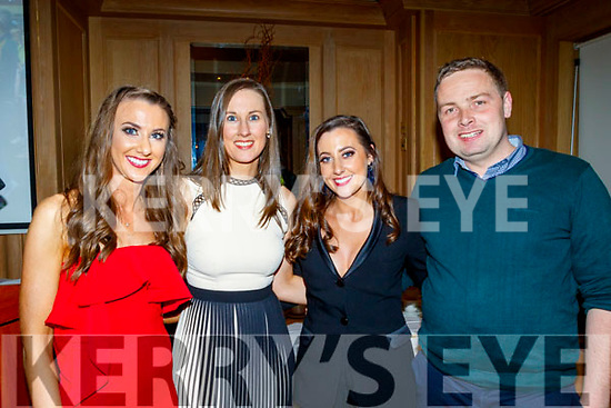 L-R Philomela O'Connor, Margaret Adair with Shelia Marie& James Scannell attending the Cordal GAA annual barbecue in the Ballygarry house hotel, Tralee last Saturday night.