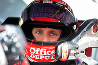 Sept. 19, 2008; Dover, DE, USA; Nascar Sprint Cup Series driver Carl Edwards during qualifying for the Camping World RV 400 at Dover International Speedway. Mandatory Credit: Mark J. Rebilas-