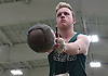 Andrew Saulpaugh of Seaford gets ready to make a weight throw during the event's Nassau County championship and state qualifier at St. Anthony's High School on Monday, Feb. 6, 2017.