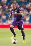 Fiorentina's Cristiano Biraghi during XXXVIII Santiago Bernabeu Trophy at Santiago Bernabeu Stadium in Madrid, Spain August 23, 2017. (ALTERPHOTOS/Borja B.Hojas)