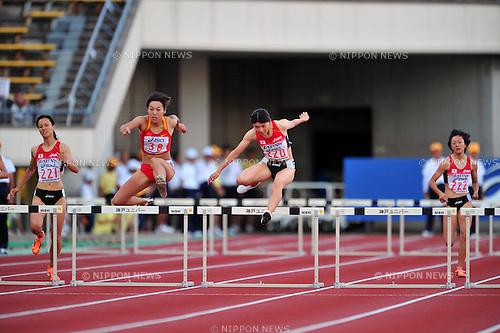 Satomi Kubokura (JPN),JULY 9, 2011 - Athletics :The 19th Asian Athletics Championships Hyogo/Kobe, Women's 400mH Final at Kobe Sports Park Stadium, Hyogo ,Japan. (Photo by Jun Tsukida/AFLO SPORT) [0003]