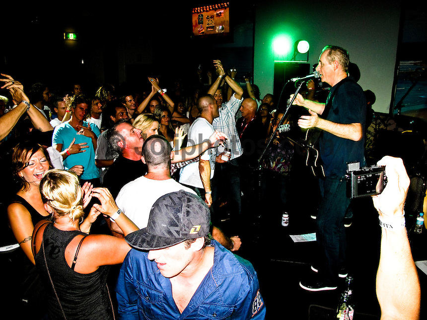 """Coolangatta, Queensland/Australia (Friday, March 5, 2010) - Australia's Tracks surfing magazine held a 40 Year Birthday bash at the Sands Hotel in Coolangatta. 80's band Ganggajang played live to a packed house. Tom Carroll (AUS) and Gary 'Kong"""" Elkerton (AUS) were hounored during the night..Photo: joliphotos.com"""