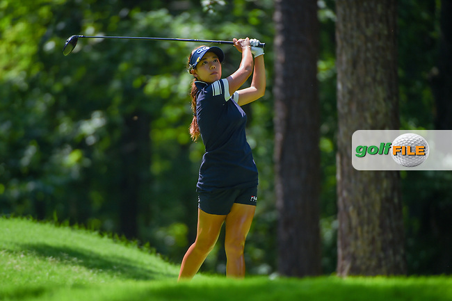 Jenny Shin (KOR) watches her tee shot on 2 during round 3 of the U.S. Women's Open Championship, Shoal Creek Country Club, at Birmingham, Alabama, USA. 6/2/2018.<br /> Picture: Golffile   Ken Murray<br /> <br /> All photo usage must carry mandatory copyright credit (© Golffile   Ken Murray)