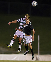 The number 5 ranked Charlotte 49ers play the University of South Carolina Gamecocks at Transamerica field in Charlotte.  Charlotte won 3-2 in the second overtime.  Alan Kirkbride (8), Ryan Arambula (3)
