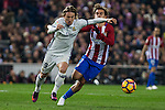 Real Madrid's Luka Modric Atletico de Madrid's Antoine Griezmann during the match of La Liga between Atletico de Madrid and Real Madrid at Vicente Calderon Stadium  in Madrid , Spain. November 19, 2016. (ALTERPHOTOS/Rodrigo Jimenez)