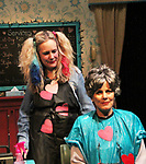 Liz Keifer and Maia Guest - Dress rehearsal on November 28, 2017 of Steel Magnolias performed at the Phillipstown Depot Theatre, Garrison, New York. (Photo by Sue Coflin/Max Photo)