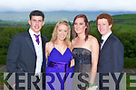 BALL: Enjoying the CBS The Green, Tralee Debs at the Ballyroe Heights hotel on Thursday l-r:  Hayden Fitzgerald, Sharon Moynihan, Dawn Shaughnessy and Alan Reidy.