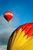 Floating hot air balloons at the 2009 Albuquerque International Balloon Fiesta, New Mexico, USA.