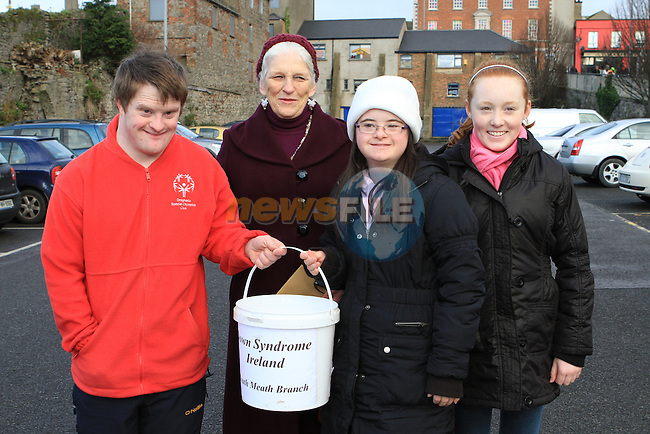 Richard and Claire Leonard with Niamh and Orla McNally at the 5 Bridges Walk in aid of Down Syndrome Ireland...(Photo credit should read Jenny Matthews www.newsfile.ie)....This Picture has been sent you under the conditions enclosed by:.Newsfile Ltd..The Studio,.Millmount Abbey,.Drogheda,.Co Meath..Ireland..Tel: +353(0)41-9871240.Fax: +353(0)41-9871260.GSM: +353(0)86-2500958.email: pictures@newsfile.ie.www.newsfile.ie.