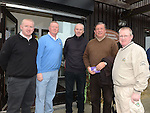 Anthony McCullough, Kevin McDonnell, Peter McCullough, Noel Bannon and Kevin McCullough pictured at the Captain's drive in at Seapoint golf club. Photo:Colin Bell/pressphotos.ie