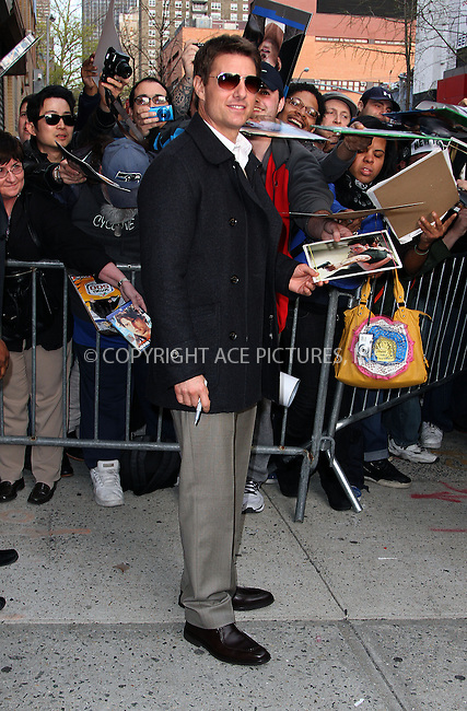 WWW.ACEPIXS.COM....April 16 2013, New York City....Actor Tom Cruise made an appearance at the Daily Show with Jon Stewart on April 16 2013 in New York City......By Line: Zelig Shaul/ACE Pictures......ACE Pictures, Inc...tel: 646 769 0430..Email: info@acepixs.com..www.acepixs.com