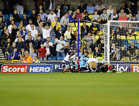 GOAL - Millwall's Tom Elliott levels the scores during the Sky Bet Championship match between Millwall and Ipswich Town at The Den, London, England on 15 August 2017. Photo by Carlton Myrie.