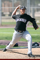 Erik Stavert, Colorado Rockies 2010 minor league spring training..Photo by:  Bill Mitchell/Four Seam Images.