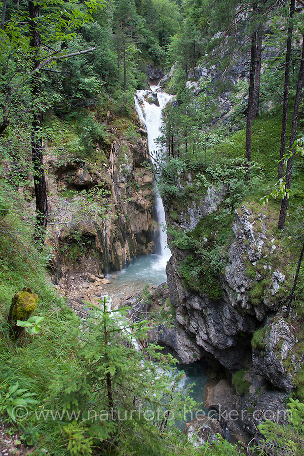 Tscheppa-Schlucht, Tscheppaschlucht, Gebirgsschlucht, Schlucht, Klamm, Bach, Gebirgsbach, Wasserfall, Alpen, Österreich, Kärnten, Ferlach, Loiblbach, Karawanken. Canyon, gorge, Stream, cascade, waterfall, downfall, rivulet in the mountains, alps, Austria, Carinthia, Karawanks, Karavankas, Karavanks