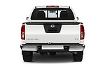 Straight rear view of a 2019 Nissan Frontier SV 4 Door Pick Up stock images