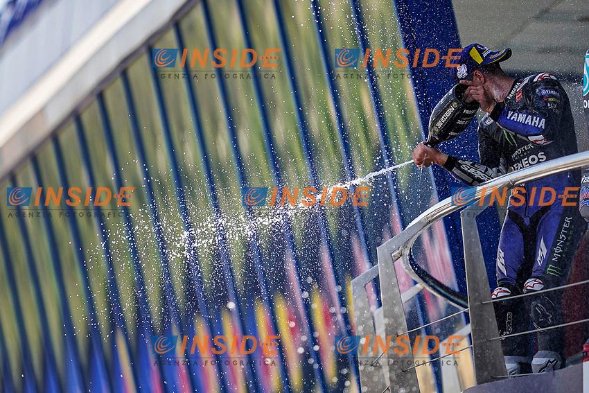 Maverick Vinales Yamaha celebrates <br /> Jerez 26/07/2020 Moto Gp Andalucia 2020 / Spain<br /> Photo Yamaha Press Office / Insidefoto <br /> EDITORIAL USE ONLY